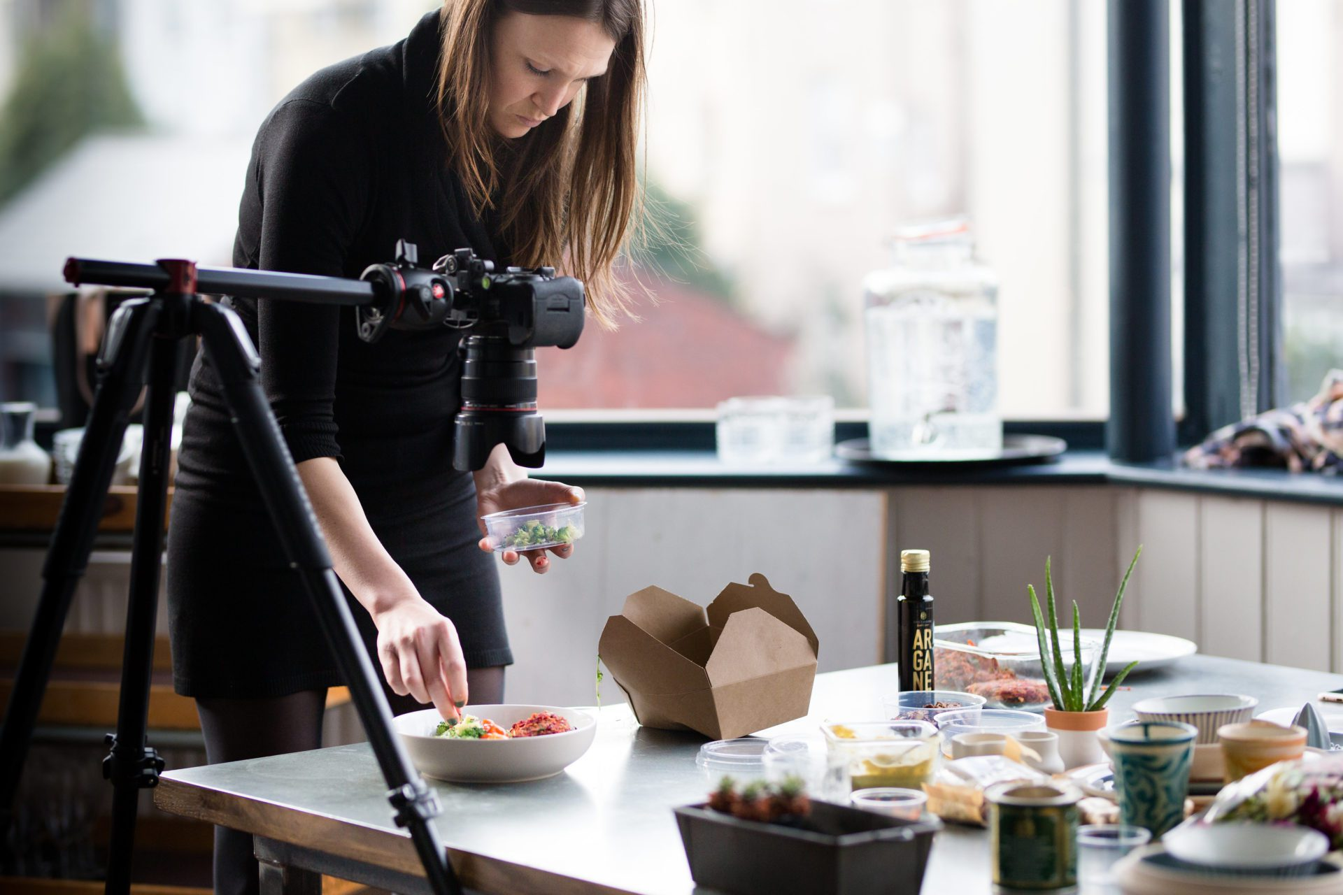 Rosie Letts, nutritionist, at brand consultancy photoshoot