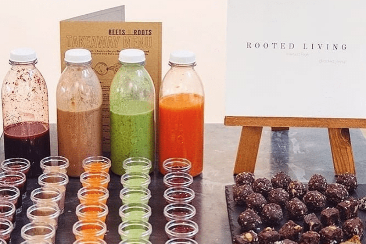 delicious smoothies and raw treats at a Bristol nutritionist event