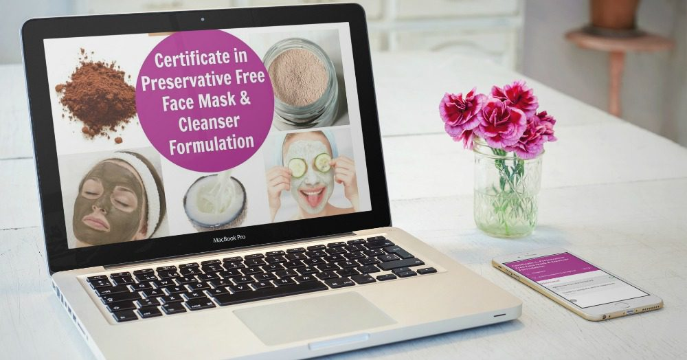 Certificate in Preservative-Free Face Mask Formulation