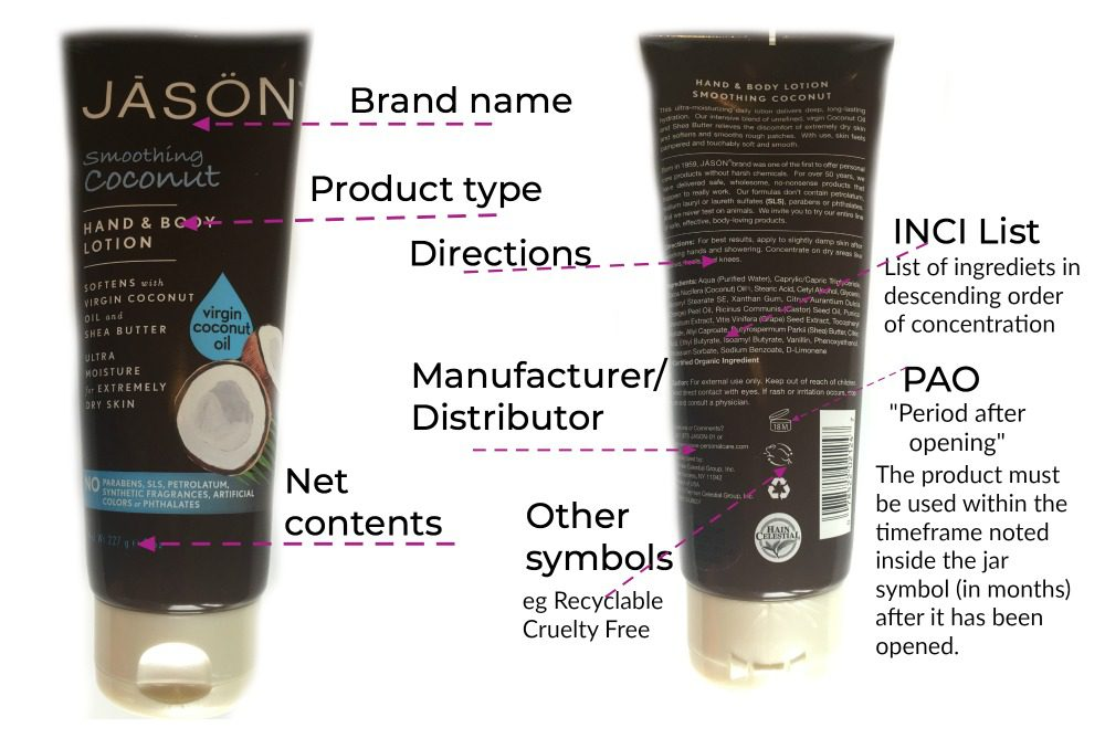 How to read a cosmetic label Getting started