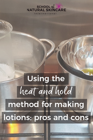 Using the heat and hold method for making creams and lotions: pros and cons Natural Facial skincare recipes Skincare Formulation