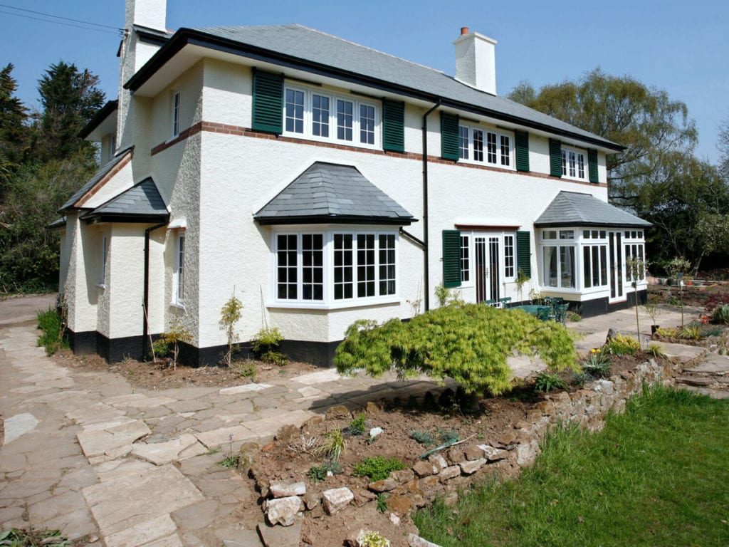 bay windows on traditional house